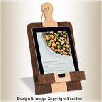 Counter Top Cookbook & Tablet Stand Pattern