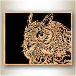 Owl Scrolled Art Design Pattern