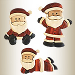 Santa Ornament Intarsia Designs