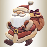 Jolly Santa Intarsia Set