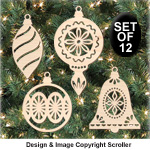 Classic Bulb Ornament Set - Downloadable