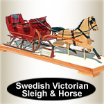 Swedish Victorian Sleigh and Horse