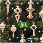 Compound Cut Ornament Pattern Designs - Downloadable