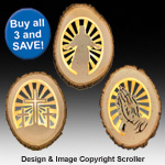 Lighted Religious Round Pattern Set