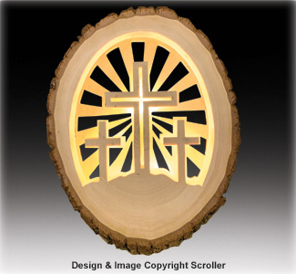 Lighted Religious Round Crosses - Downloadable