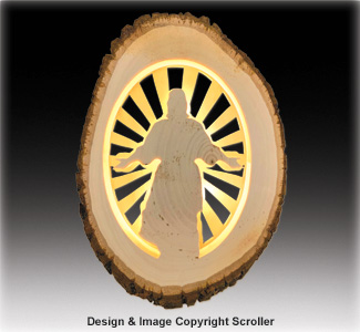 Lighted Religious Round Jesus - Downloadable
