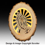Lighted Religious Round Praying Hands - Downloadable