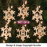 Slotted Snowflake Ornaments - Downloadable
