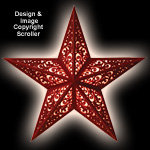 Scrolled Lighted Wall Star Project Pattern
