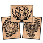Blazing Wildlife Mini Plaque Scroll Saw Designs