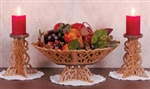 Scrolled Pedestal Bowl & Candle Holder