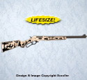 Deer Rifle Wall Art Pattern