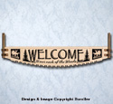 Woods Welcome Crosscut Saw Wall Art Pattern
