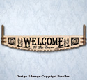 Farm Welcome Crosscut Saw Wall Art Pattern