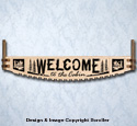Cabin Welcome Crosscut Saw Wall Art Pattern