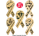 Wooden Ribbon Designs Pattern Set #1