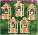 Mini Slotted Gazebo Ornaments Pattern Set #2