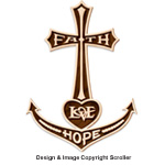 Anchored In Faith Self-Framing Wall Plaque Design