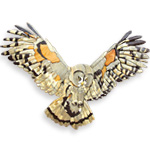Taking Flight Owl Intarsia Design Pattern