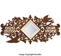 God Bless Mirrored Wall Plaque Pattern