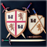 Medieval Shields & Swords Pattern Set