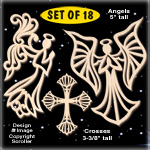Divine Angels & Cross Ornament Designs Pattern