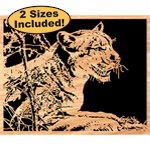 Cougar Scrolled Art Pattern