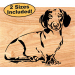 Dachshund Scrolled Art Pattern
