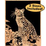 Ocelot Scrolled Art Pattern