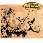 Rhino Scrolled Art Pattern