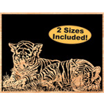 Tiger Cubs Scrolled Art Pattern