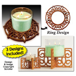 Candle Ring & Holder Pattern Set #1