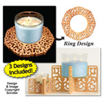 Candle Ring & Holder Pattern Set #3