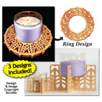 Candle Ring & Holder Pattern Set #4