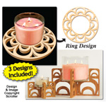 Candle Ring & Holder Pattern Set #5