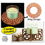 Candle Ring & Holder Pattern Set #6