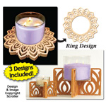 Candle Ring & Holder Pattern Set #7