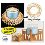 Candle Ring & Holder Pattern Set #8