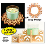 Candle Ring & Holder Pattern Set #9