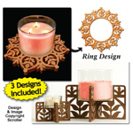 Candle Ring & Holder Pattern Set #10