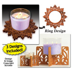 Candle Ring & Holder Pattern Set #12