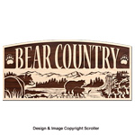 Bear Country Rustic Wall  Art Pattern