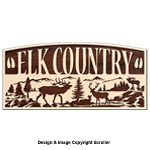 Elk Country Rustic Wall Art Pattern