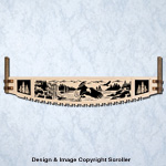 Eagle Crosscut Saw Wall Art Pattern