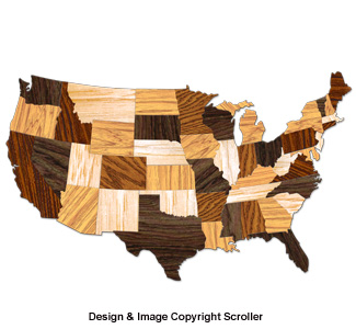 Large United States Wall Art Design Pattern