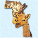 Giraffe Family Intarsia Design Pattern