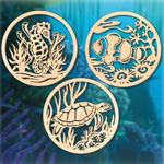 Underwater Sea Creature Wall Art Patterns