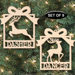 Santa's Reindeer Ornaments Pattern Set