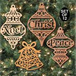 Ornate Christmas Ornaments Pattern