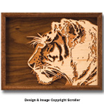 Layered 3D Tiger Wall Art Design Pattern